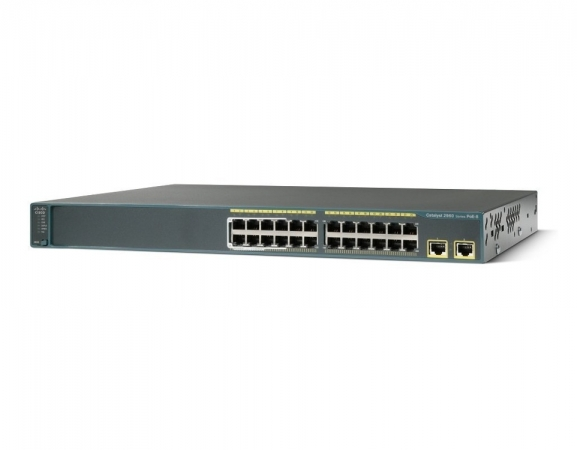 WS-C2960-24LT-L - Switch Cisco Catalyst 2960 24 port PoE