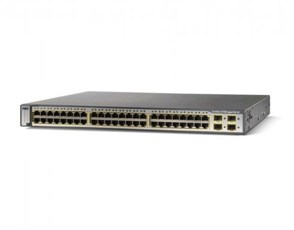 WS-C3750G-48PS-S - Switch Cisco Catalyst 48 port Gigabit PoE