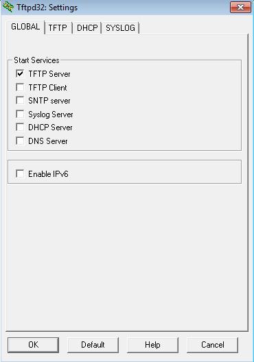 Configuration du logiciel TFTPD32 1