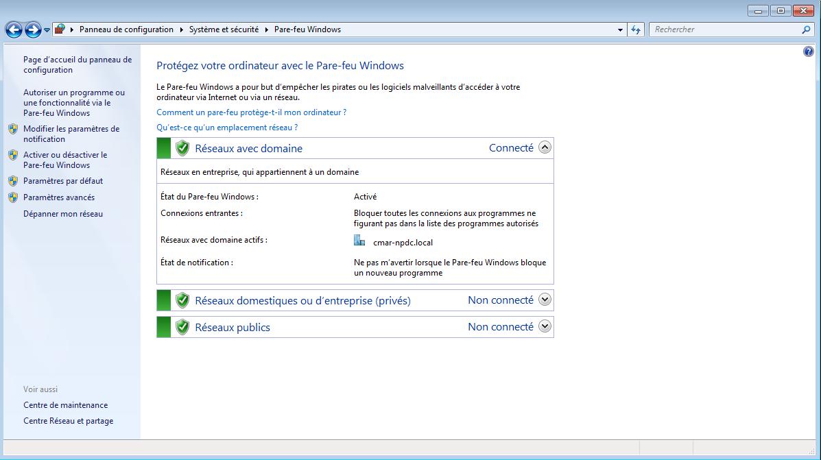 Configuration du firewall du PC pour l'utilisation du serveur TFTP 1
