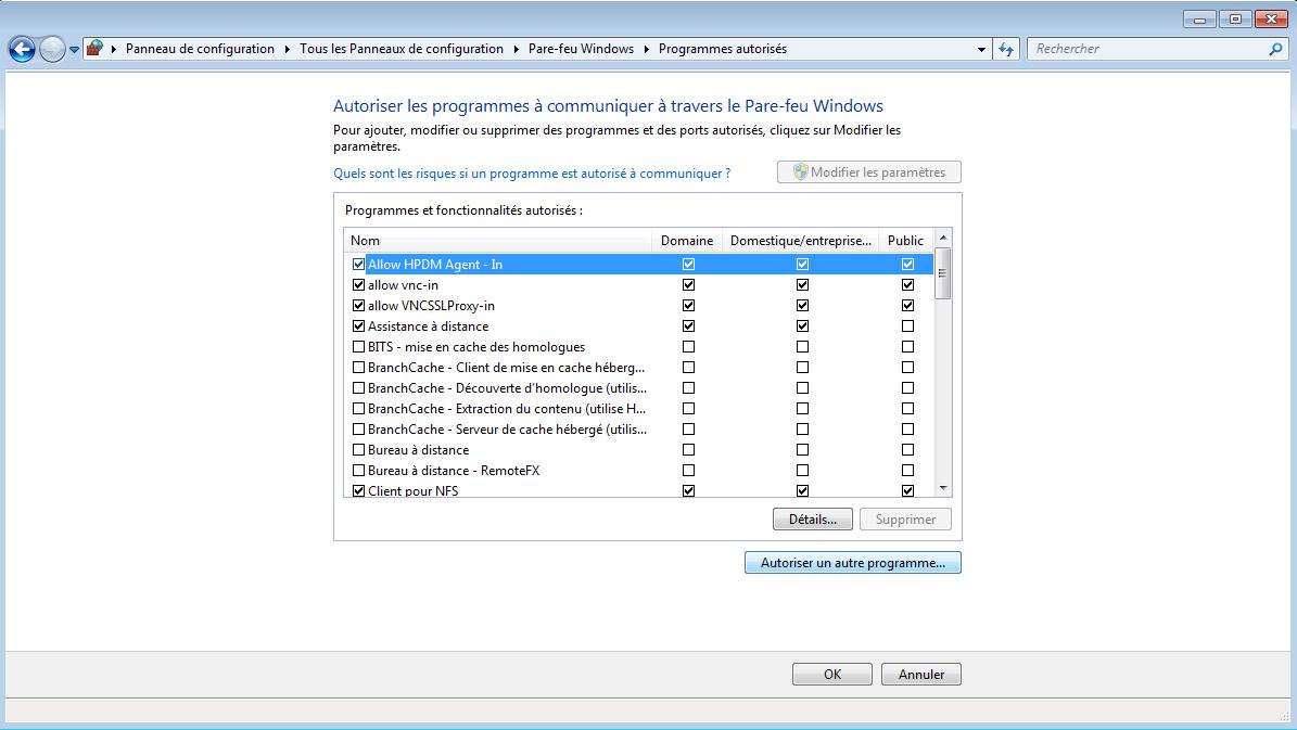 Configuration du firewall du PC pour l'utilisation du serveur TFTP 2