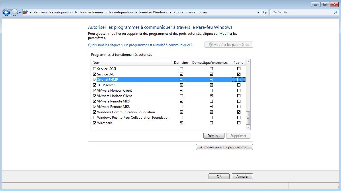 Configuration du firewall du PC pour l'utilisation du serveur TFTP 4