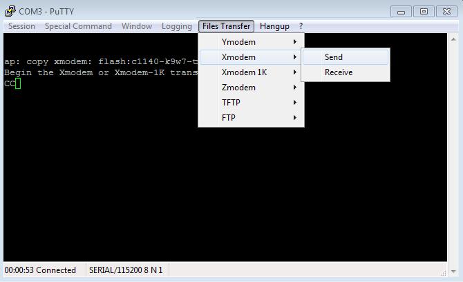 Transfert du fichier .tar à la borne WiFi 2